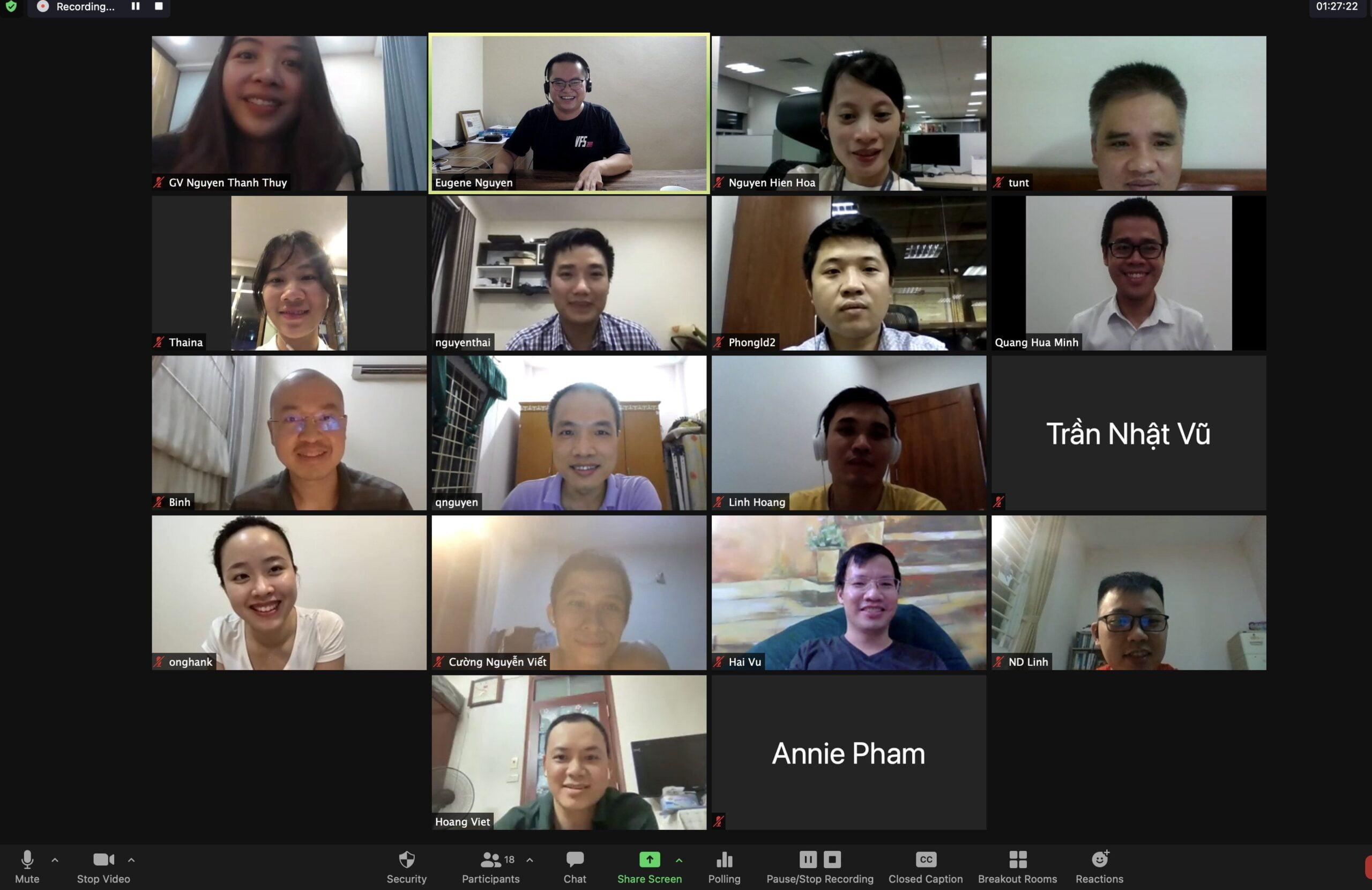 Hình ảnh lớp học luyện thi chứng chỉ PMP Online tại PMA